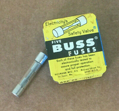Lot Of 25 Bussmann Agc-25 Glass Fuse 25A Made In Usa