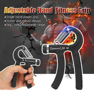 Adjustable 5-60KG Forearm Exerciser Heavy Grip Hand Gripper Strength Training