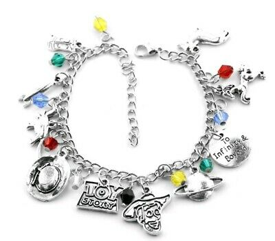 TOY STORY THEMED CHARM BRACELET disney woody buzz lightyear Christmas 001