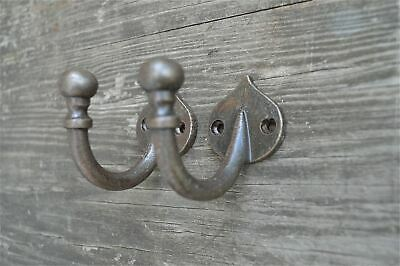 A Pair Of Simple Cast Iron Round Top Single Coathooks Hook Hanger Coathook Af3