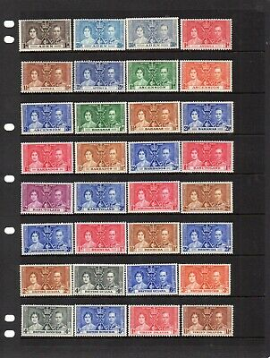1937 King George Vi Coronation Complete Omnibus Set Of 202 Unmounted Mint Stamps