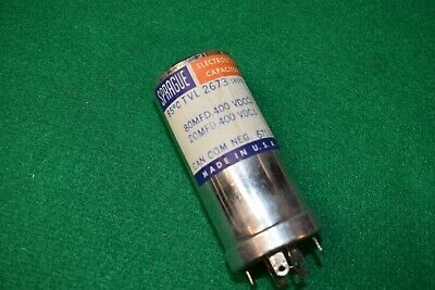 One Sprague NOS NIB TVL 2673 Twist Lock Filter Electrolytic Capacitor Tested