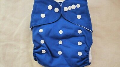 New Cloth Pocket Diaper Nappy Microfiber Insert Solid Dark Blue