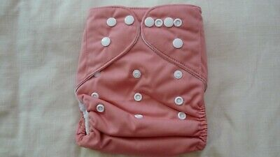 New Cloth Pocket Diaper Nappy Microfiber Insert Solid Dusty Pink