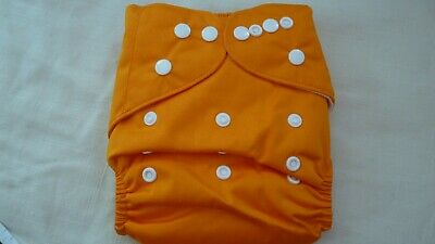 New Cloth Pocket Diaper Nappy Microfiber Insert Solid Orange