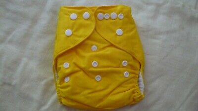 New Cloth Pocket Diaper Nappy Microfiber Insert Solid Dark yellow