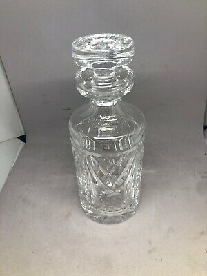 "Waterford Lismore Glass Crystal 9.5"" Decanter w Stopper Spirits Liquor Stamped"