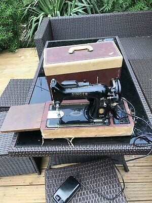 Vintage Singer 99k SEWING MACHINE 1957 with Hard Carry Case  Accessories PEDAL
