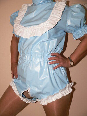 X2*ADULT BABY Romper Windel body PVC diaper onsie rubber incontinence AB ABDL