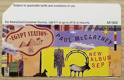 Collectible NYC MetroCard - Paul McCartney - Egypt Station Album Limited Edition