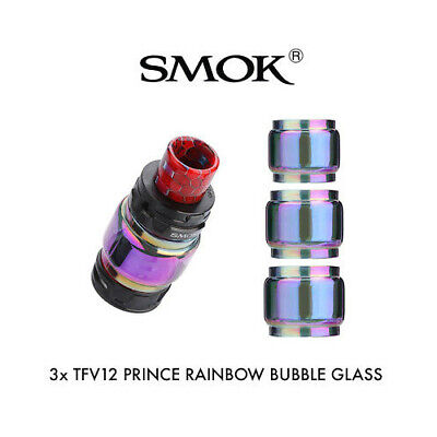 3X Rainbow Smok Prince Glass | Tfv12 Prince Bubble Fatboy Bulb Extension