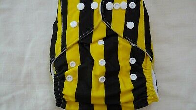 New Cloth Pocket Diaper Nappy Microfiber Insert Yellow Black Stripes