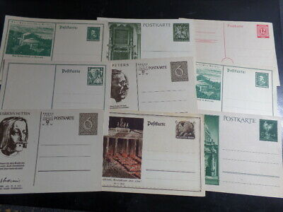 Germany 1910's - 1930's Unused Postal Stationery Cards x 9 Different