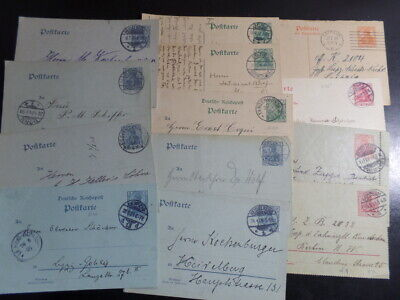 Germany / Germania Group of 13 1909-1919 Used Postal Cards