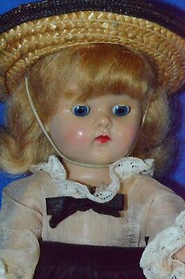 """Vintage 8"""" Vogue Ginny Doll in Skinny Tag Outfit & Center Snap Shoes Strung PL"""