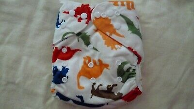 New Cloth Pocket Diaper Nappy Microfiber Insert Minky Dinosaurs