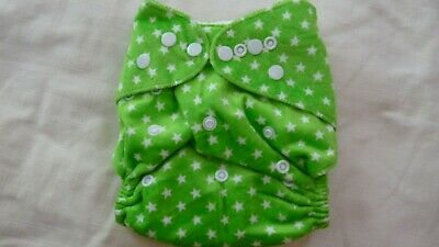 New Cloth Pocket Diaper Nappy Microfiber Insert Minky Green Stars