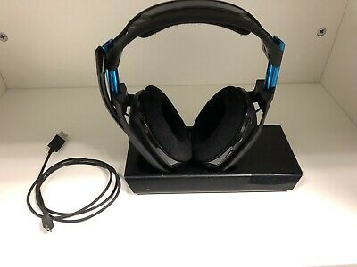 ASTRO Gaming A50 Wireless Dolby Gaming Headset, Black/Blue, PlayStation 4 + PC