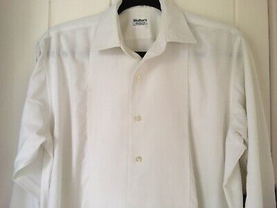 Vintage WALTERS of OXFORD Men's White Formal Dress Shirt. Collar Size 15.