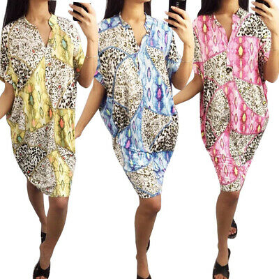 Womens Dress Ladies Party Summer Casual Fashion Dress Loose Cocktail Baggy