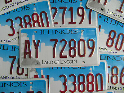 Illinois City Scene License Plate Skyline Chicago Land of Lincoln -Pick Your Tag