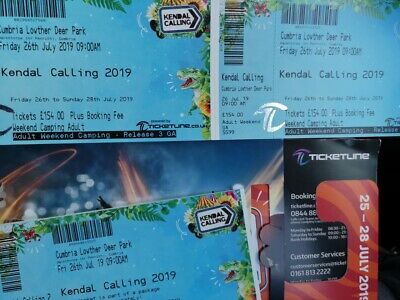 2 tickets Kendal Calling & squrt glamping Inc.Thursday tickets for 2019 Festival