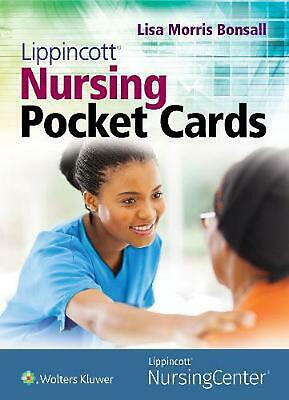 Lippincott Nursing Pocket Cards by Lisa Bonsall (English) Free Shipping!