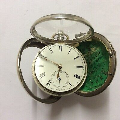 Good 1883 Silver Pair Cased Pocket Watch by Simpson of Turriff, Running