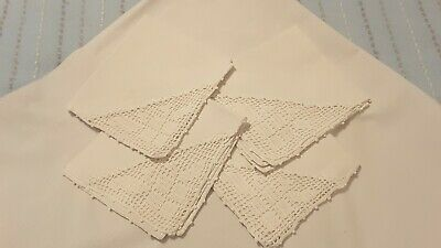 Vintage Card table tablecloth and 4 Matching Napkins New old stock
