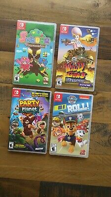 LOT OF 4 - Nintendo Switch Video Games Wholesale Party Planet Paw Patrol Soldam