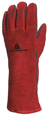 Delta Plus Leather Heavy Welders Welding Gauntlet Gloves Red Safety: EN388 🆕✅