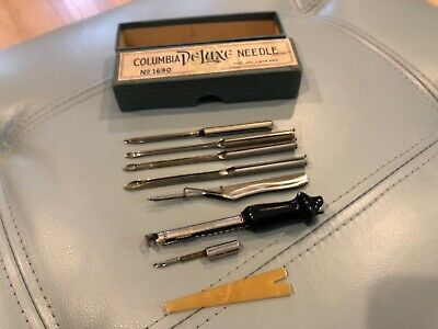 VINTAGE Columbia DELUXE RUG NEEDLE Kit with Different Points No 1690 with Box