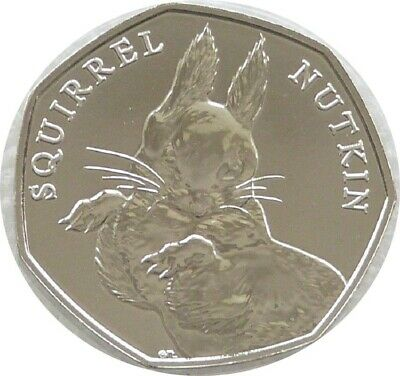 Rare Squirrel Nutkin 50p fifty pence coin beatrix potter