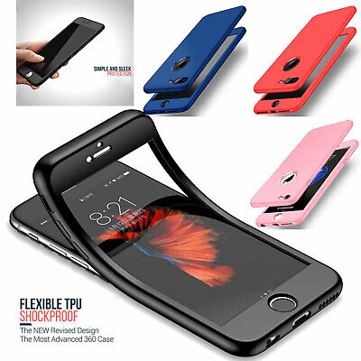 Thin Shockproof Hybrid 360 TPU Gel Cover Case For Apple iPhone XR 8 Plus XS MAX