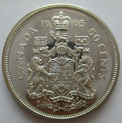 1965 Canada 50 Cents Proof-Like Silver Coin
