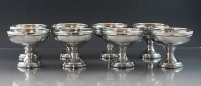 C1930s Set of 8 Weighted Sterling Silver Sorbet Sherbet Dessert Cups by Fisher