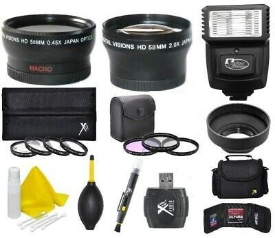 Deluxe Accessory Kit (Lens Flash Filters & More) For Canon EOS T7 SL3 SL2 250D +