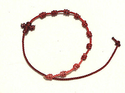 ++++ Rosary Bracelet Knotted Nylon Twine/Cord -French Wine++++