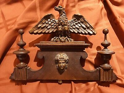 Regulator Gustav B Or Vienna Regulator Eagle Finial ( Antique Clock Parts )