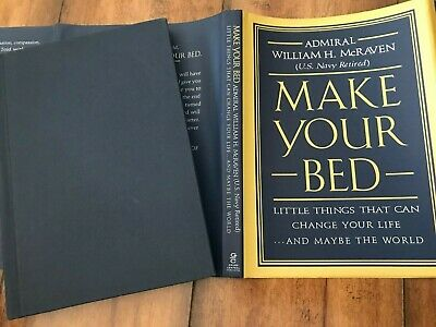 """Make Your Bed"" • hb/dj • Admiral William H. McRaven • EXCELLENT CONDITION!"