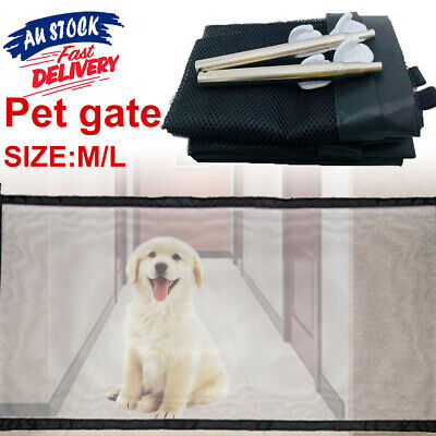 Safety Enclosure Dog Gate Barrier Mesh Safe Pet Anywhere Magic Guard&Install ww