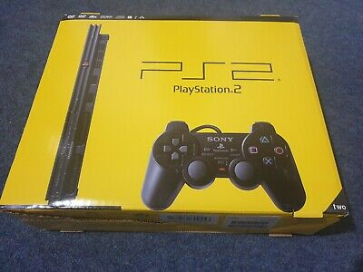 PlayStation 2 Slim Charcoal Black Console - New/Rare Sony Sealed (SCPH-77003CB)