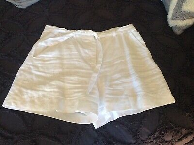 Country Road White Linen Shorts