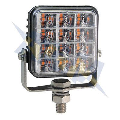 LED Amber 2 Bolt beacon Warning light highway recovery R65 4x4 VSWD-112-2B-A