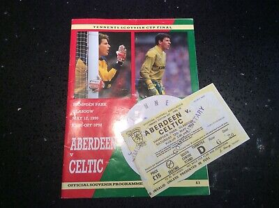 Aberdeen v Celtic Scottish Cup Final 12 May 1990 + Match Ticket