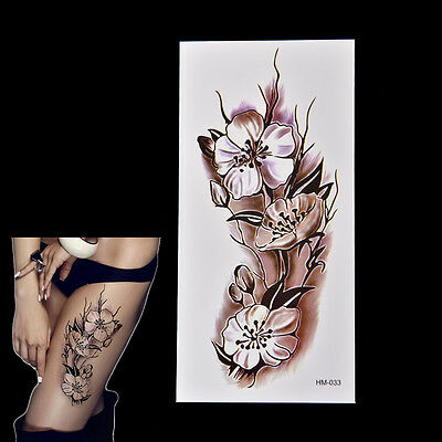 2x Fashion Removable Waterproof Temporary Plum Blossom Body Tattoo StickeSC