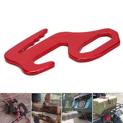 Red Rope Tightener Tie Down Strap Tool Al Alloy Camping Tent Rope BuckleSC