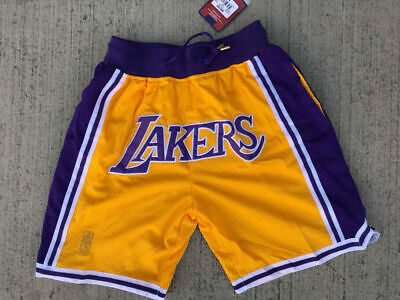 MEN'S Los Angeles Lakers Just Don Vintage Basketball Shorts Summer League Gold