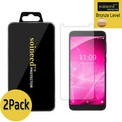 """[2-Pack]SOINEED Tempered Glass Screen Protector For 6"""" T-mobile Revvl 2 Plus /2+"""