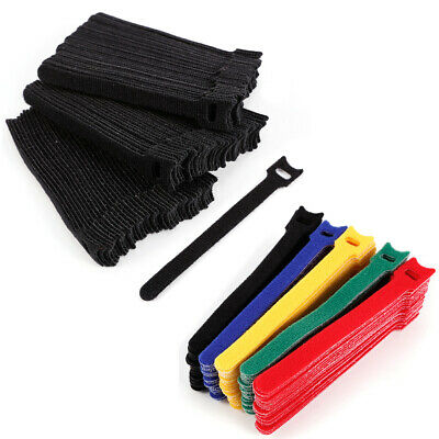 100pcs  Reusable Fastening Cable Ties Adjustable Strap Wire Management